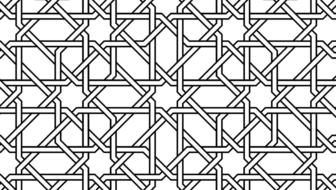 simple islamic art patterns